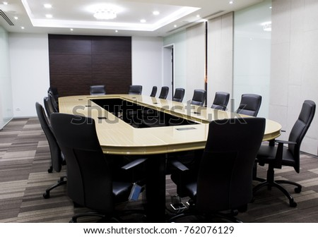 Modern Meeting Room Table Chair Concept Stock Photo Edit Now