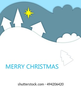 modern Merry Christmas card