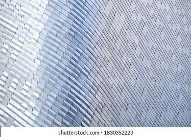 modernes Metall und Glas, moderner Hintergrund oder Wand an Architektur Design. abstrakte Struktur der Raumschiffe innen und außen oder moderne Gebäude.