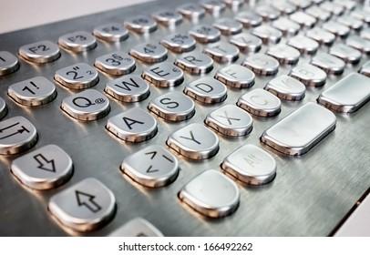 modern metal keyboard - close up