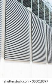 Modern metal ventillation grid like style