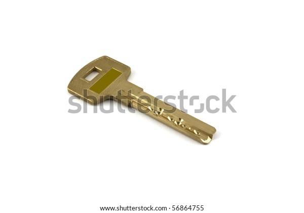 modern-metallic-key-over-white-600w-5686