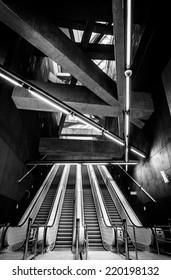 Modern metro interior