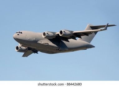 Modern military jet for heavy cargo