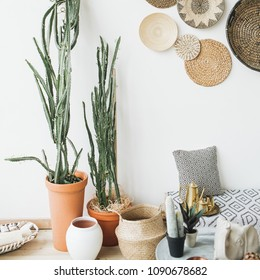 Modern minimal Scandinavian home interior design.