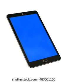 Modern mobile phone 3D rendering