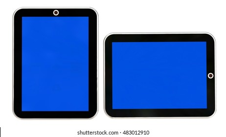 Modern mobile phone and tablet pc isolated on white - 3D rendering
