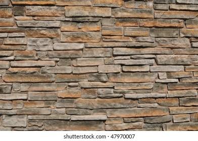 Modern Multi Color Stone Brick Background