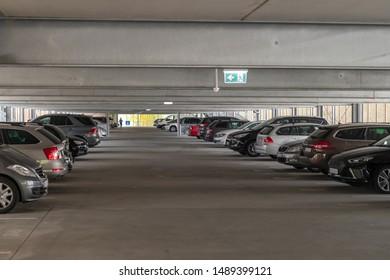 A modern multi-storey car park