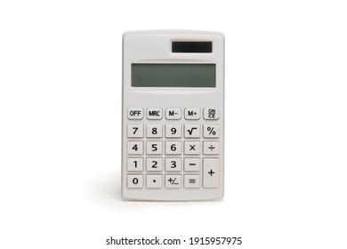 Modern and neat white mini calculator