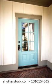Modern new Construction Front Door of House