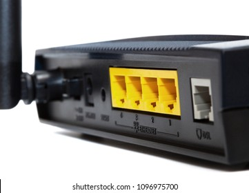 Modern new modem on white background