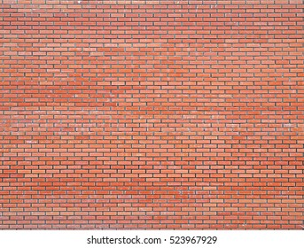 Modern new red brick wall, brickwork background, texture, pattern