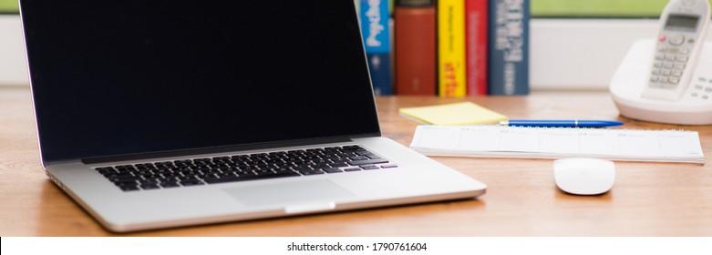 modern notbook at the desk
