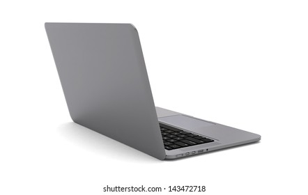 Modern notebook computer isolated on white background