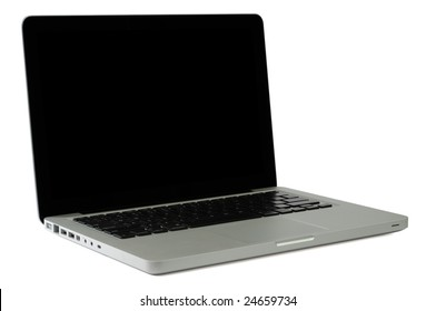Modern Notebook Isolated on White with Clipping Paths for Laptop and Screen
