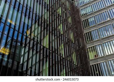 modern office, architecture detail, London, UK