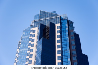 Modern Office Building against Blue Sky