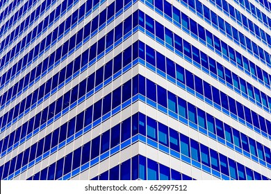 Modern Office Building Architectural Symmetry Detail