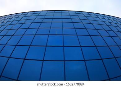 modern office building blue glass skyscraper tower