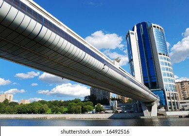 Modern office building & bridge