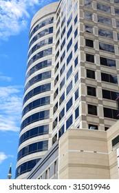Modern office building exterior.