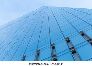 Modern office building. Glass facade. Mirror surface.