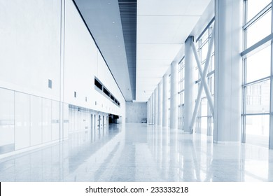 modern office building hall interior of urban city