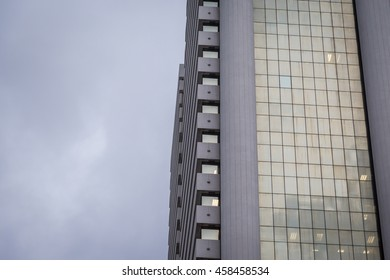 Modern office building windows use for background