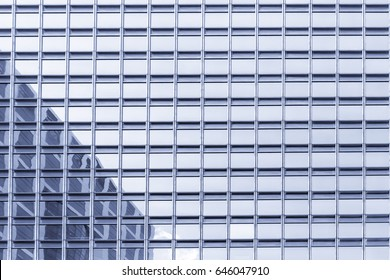 Modern office buildings in central Hong Kong, Blue tone color processing