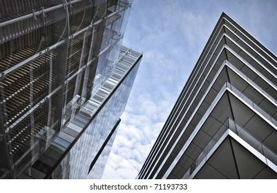 Modern office buildings in London