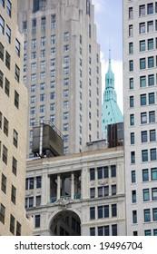 Modern office buildings in New York