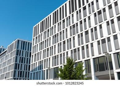 Modern office buildings seen in Berlin, Germany