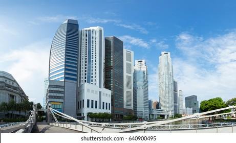 Modern office buildings Skyscraper Business Office Corporate building.