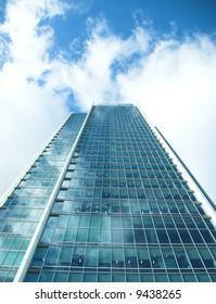 Modern office buildings in strong sunlight