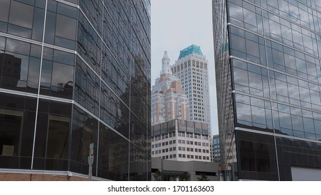 Modern office buildings in Tulsa Downtown - USA 2017