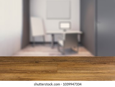 Modern office Cabinet. Meeting room.   Wooden table.