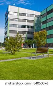 Modern office in city park