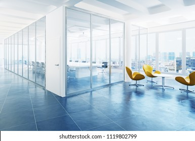 modern office conference room interior. 3d rendering concept
