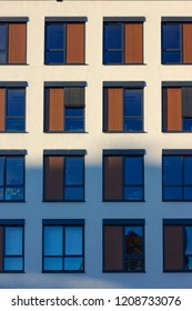 modern office facades under blue sky fall evening in south germany