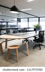 Modern office fitout interior in a commercial building