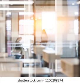 Modern office interior blur background