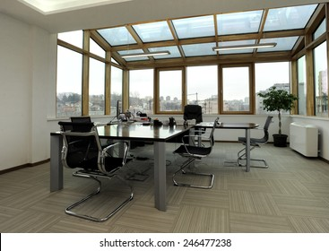 Modern office interior in building loft