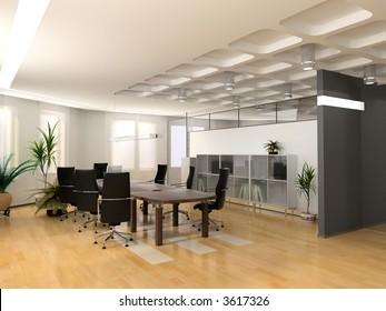 modern office interior design conceptのイラスト素材 179555360
