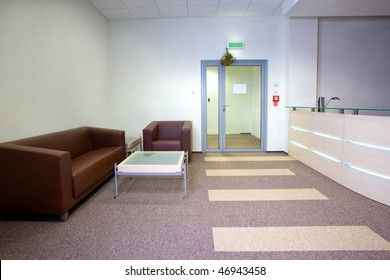 Modern office interior - reception area
