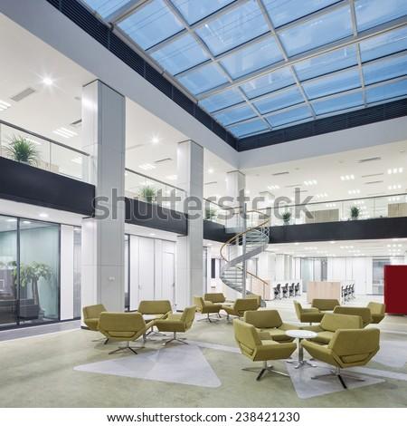 Modern Office Lobby Hall Interior Stock Photo Edit Now 238421230