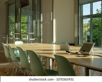 Modern office meeting room. With a view outdoors and advanced conferencing options