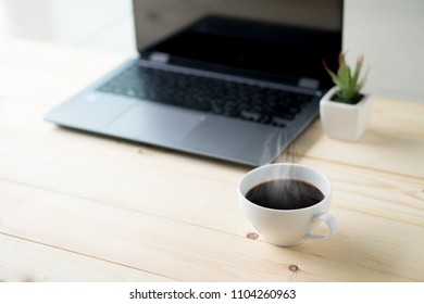 Modern office wood desk