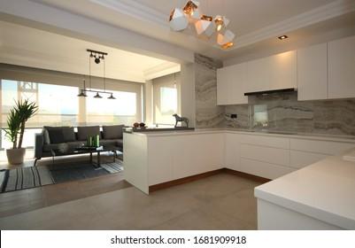 Modern Open Kitchen Design and Patio Furniture