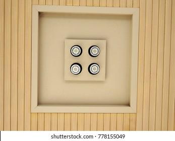 Modern and original ceiling light set